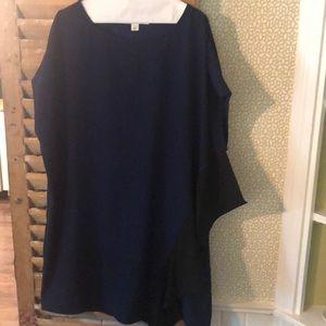 Diane Von Furstenberg Blue Shift Dress